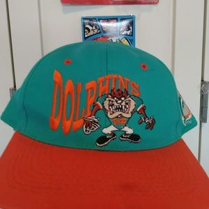 Vintage 1993 Miami Dolphins Looney Tunes Taz Hat